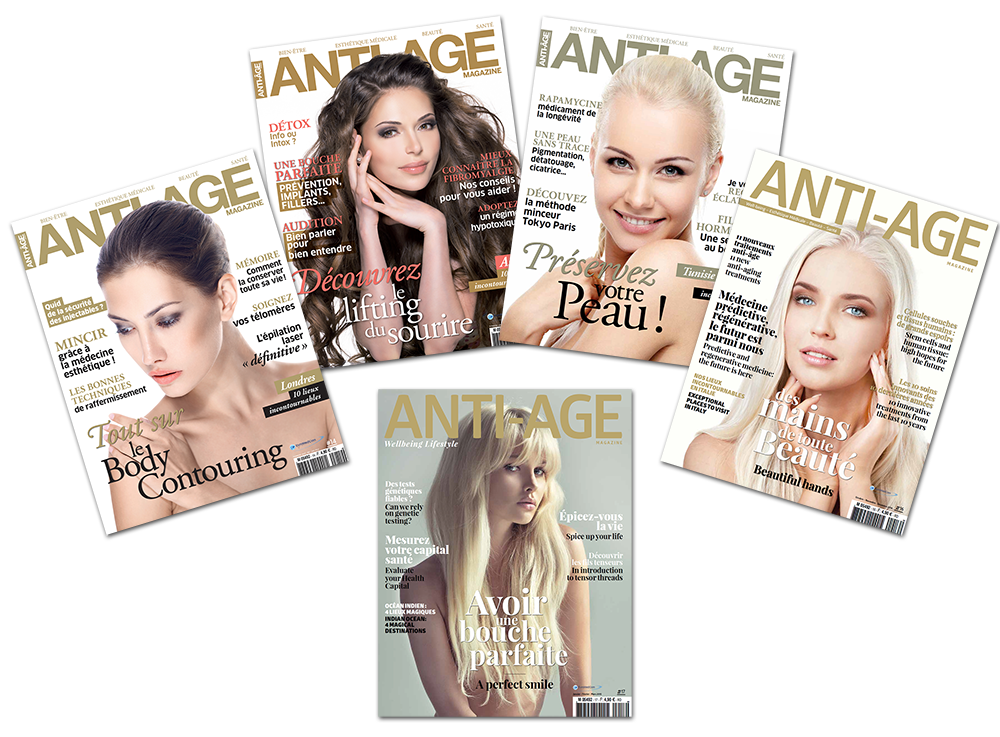 Cover 5 magazines Anti-Age